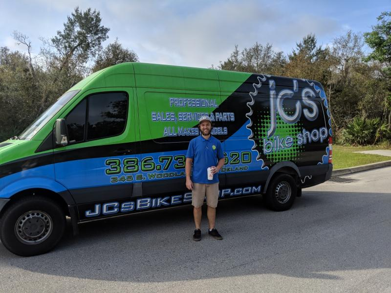Ryan from JC's Bike Shop supported our ride