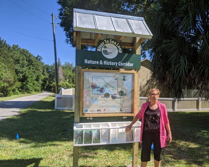Maggie Ardito completes installation of the St Johns River to Sea Loop Sign